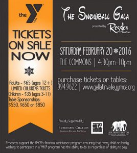 The 2016 SnowBall Gala-An Evening of Dreams